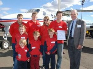 Flynn residents present heritage report to Flying Doctors South East Region President, John Gall